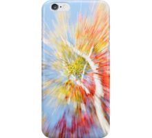 Birch trees in fall, Maine, Vibrant nature abstract. iPhone Case/Skin