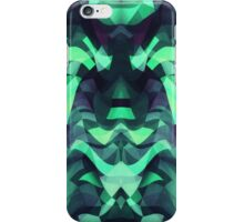 Abstract Surreal Chaos theory in Modern poison turquoise green iPhone Case/Skin