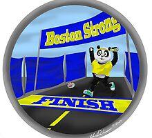 Boston Marathon Panda Finish by PandaBoxArt