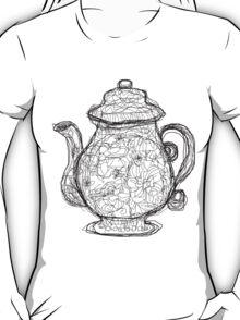 Black and White Teapot T-Shirt