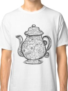 Black and White Teapot Classic T-Shirt
