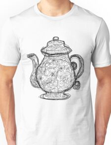 Black and White Teapot Unisex T-Shirt
