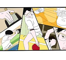 Ping Pong The Animation Print by niymi