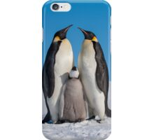 Emperor Penguins and Chick - Snow Hill Island iPhone Case/Skin
