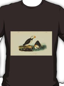 James Audubon Vector Rebuild - The Birds of America - From Drawings Made in the United States and Their Territories V 1-7 1840 - Large Billed Puffin T-Shirt