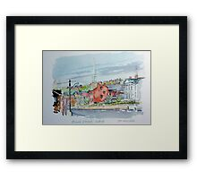 Bench Street, Galena Illinois Framed Print