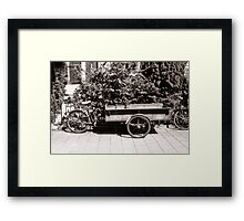 Carrier Tricycle Framed Print