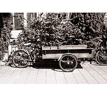 Carrier Tricycle Photographic Print