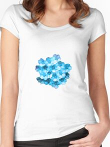 Many Blue Flowers Women's Fitted Scoop T-Shirt