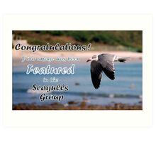 Seagulls Group Challenge #2 Art Print