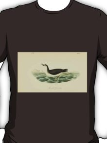 James Audubon Vector Rebuild - The Birds of America - From Drawings Made in the United States and Their Territories V 1-7 1840 - Manks Shearwater T-Shirt