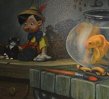 Disney Pinocchio Disney Art Vintage Disney Character by notheothereye