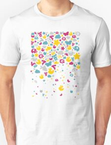 Toys falling like candies - white Unisex T-Shirt