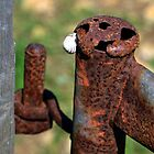Rusty Gate Catch .. by lynn carter