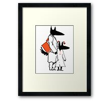 Puppies go to school Framed Print