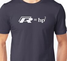 VW Golf R (R=hp2) White Unisex T-Shirt