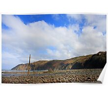 Lynmouth Beach X Poster