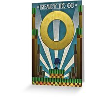 Sonic The HedgeHog - Art Deco Style Greeting Card