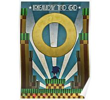 Sonic The HedgeHog - Art Deco Style Poster