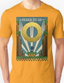 Sonic The HedgeHog - Art Deco Style T-Shirt