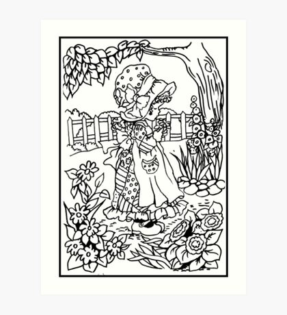 Pen and Ink Colection - Country Girl Art Print