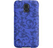 Blue Renaissance Damask Swirls Samsung Galaxy Case/Skin