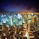 New York - City of Lights by Dominic Kamp