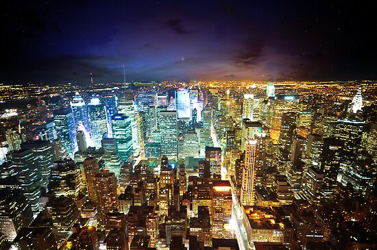 New York - City of Lights by Dominic Kamp