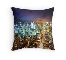 New York - City of Lights Throw Pillow