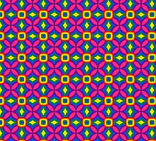 Psychedelic colourful seamless pattern by Radka Kavalcova