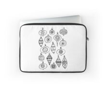 Retro Christmas Ornaments Laptop Sleeve