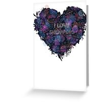 Shopping neon heart Greeting Card