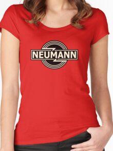 Horizontal Neumann Microphones  Women's Fitted Scoop T-Shirt