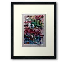 STICK MEN AND OTHER LINES(C1997) Framed Print