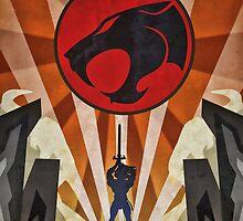 Thundercats - Art Deco Style by Firenutdesign
