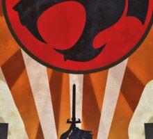 Thundercats - Art Deco Style Sticker