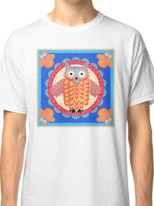 Colorful Night Owl Classic T-Shirt