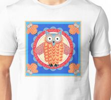 Colorful Night Owl Unisex T-Shirt