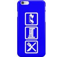Eat / Sleep / R (White) iPhone Case/Skin