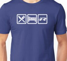 Eat / Sleep / R (White) Unisex T-Shirt
