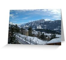 Ready for Skiing, Leysin, Switzerland Greeting Card