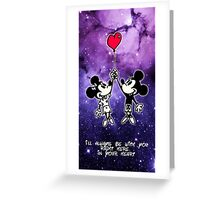 Mickey and Minnie Mouse Love  Greeting Card