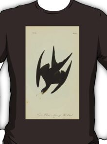 James Audubon Vector Rebuild - The Birds of America - From Drawings Made in the United States and Their Territories V 1-7 1840 - Frigate Pelican or Man of War Bird T-Shirt