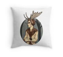 unhappy moosecroft Throw Pillow