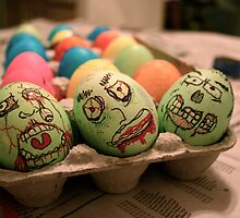 Zombie Easter Eggs by Alyssa Tucker