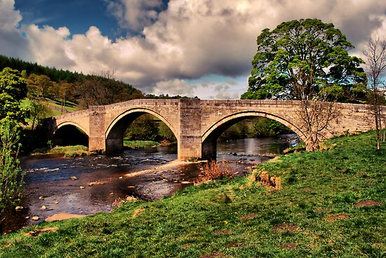 Bridge over the Winding Wharfe by Paul Gibbons