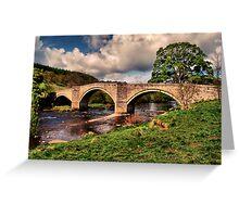 Bridge over the Winding Wharfe Greeting Card