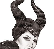 Maleficent - Angelina Jolie by allysart01