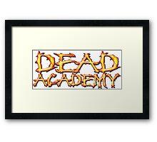 DEAD Academy Long Logo Framed Print