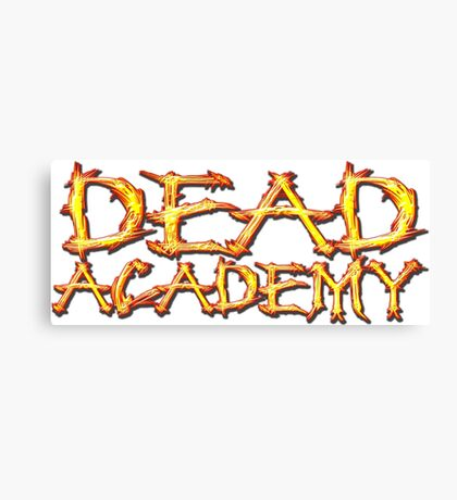 DEAD Academy Long Logo Canvas Print